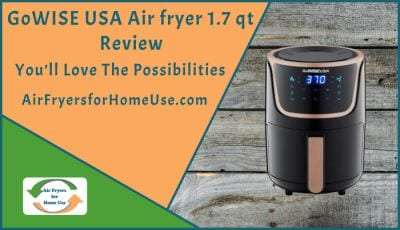 GoWISE USA Air fryer 1-7qt Review Card